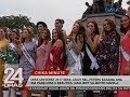 Miss U 2017 Demi-Leigh Nel-Peters kasama ang iba pang Miss U beauties, naglibot sa Metro Manila