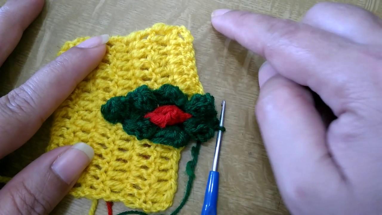 Crochet Swastik Wel Come Borderin Marathi