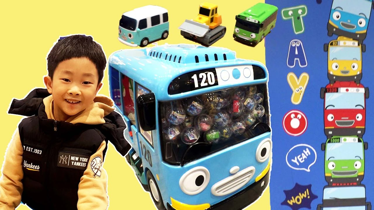 [With Kids]Little Bus Tayo & Pororo Capsule Claw Vending Toy Machine Тайо игрушка đồ chơi