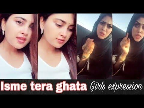 Isme tera ghata girls expression||gajendra verma||worldwide trending