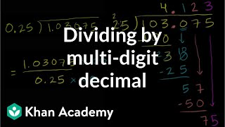 Dividing by a multi-digit decimal | Decimals | Pre-Algebra | Khan Academy