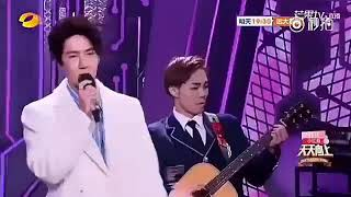 Yi Bo UNIQ singing Qing Fei Di Yie @ day-up-day tv show