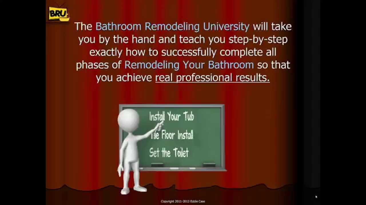 Bathroom Remodeling Videos bathroom remodeling university - bathroom remodeling videos - youtube