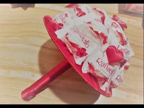 как сделать букет из конфет рафаэлло своими руками просто и красиво ✔ Marine DIY Guloyan✔
