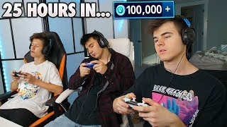 Last One Playing Fortnite WINS 100,000 VBUCKS! (Fortnite Battle Royale)