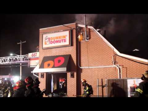 North Bellmore FD Building Fire at Dunkin Donuts [11-28-16]