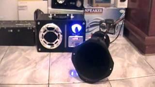mini caixa de som com corneta de carro yp 57
