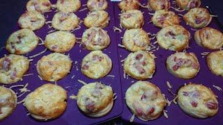 Recette rapide et facile de mini quiches aux lardons et fromage pour l'apéro