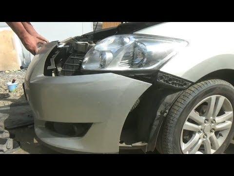 Как снять передний бампер. Toyota Auris.