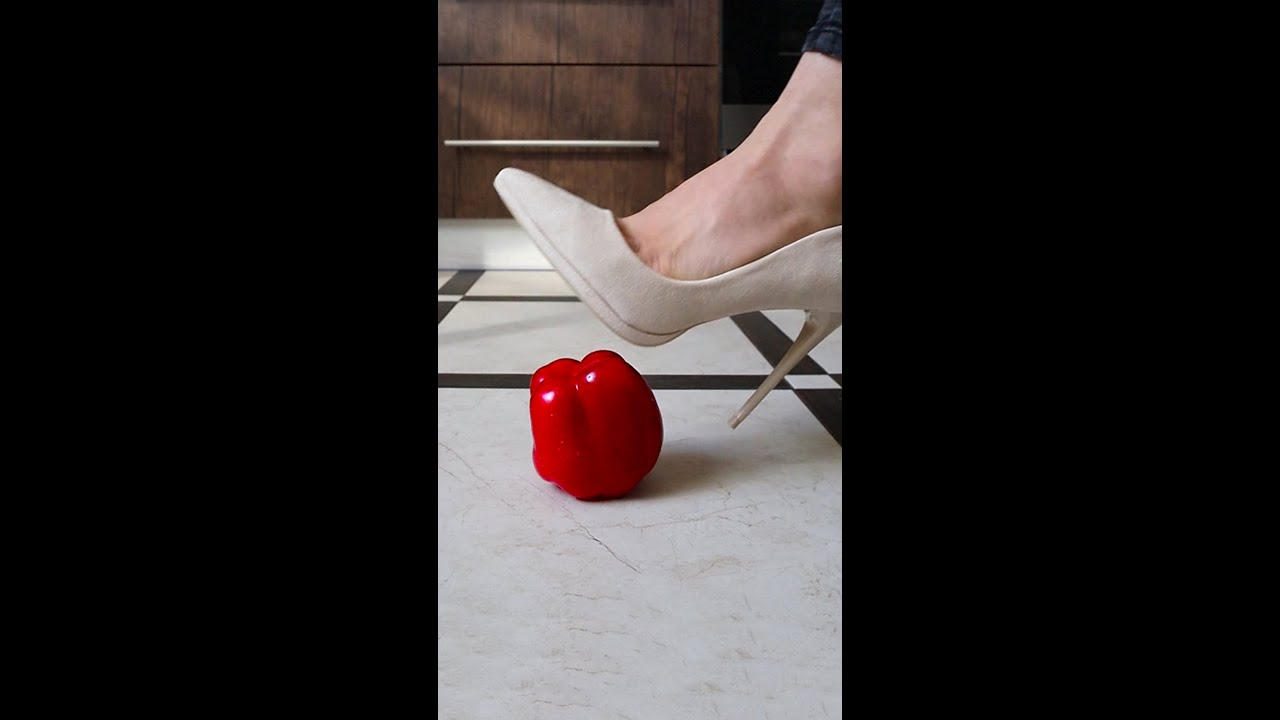 Experiment High Heels vs Fruits | Crushing Crunchy & Soft Things by Shoes! #Shorts
