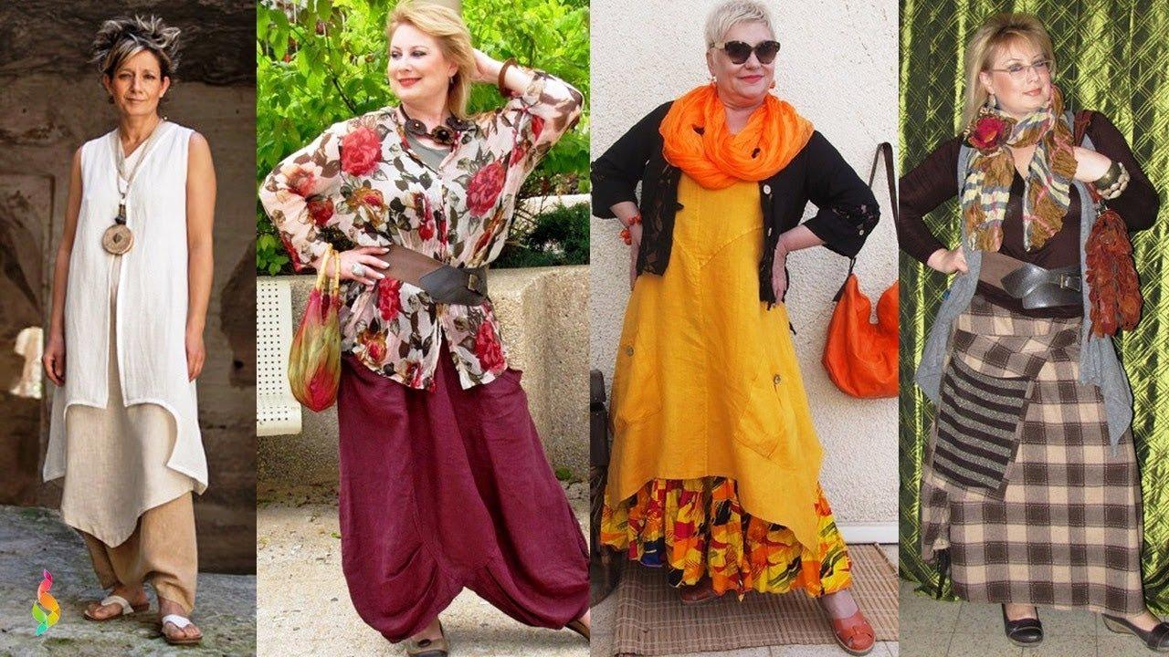 Бохо стиль в одежде 2018 фото ???? Модные идеи для полных, как одеваться в стиле бохо женщинам 50+60