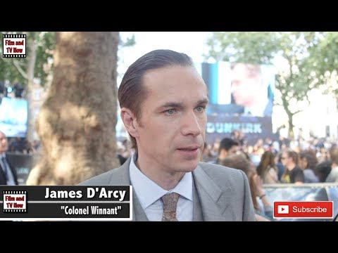 James D'Arcy red carpet interview at Dunkirk premiere