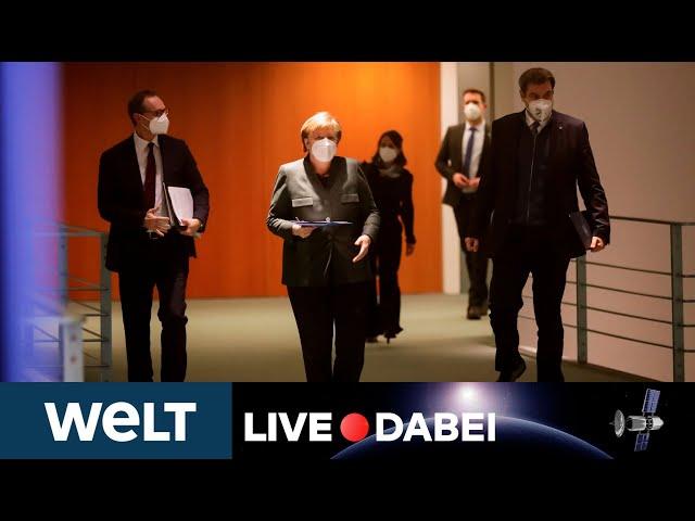 LIVE DABEI: Merkel Briefing nach dem Corona-Gipfel - Lockdown geht zum bis 14. Februar weiter
