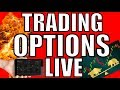 Day Trading Live & Stock Market News - Sell Off Into The Weekend Or Rally?  - Trading Options Live