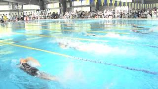 小学校の水泳記録会(宮崎県日南市)