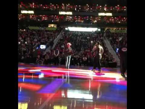 Gucci Mane performs at the Atlanta Hawks Game before proposing to Keyshia Kaoir