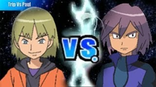 Pokemon Black and White 2 Wifi Battle - Trip Vs Paul