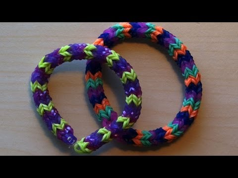 RAINBOW LOOM QUADRAFISH - Faster Than Hexafish, Uses 4 Pegs Vs 6