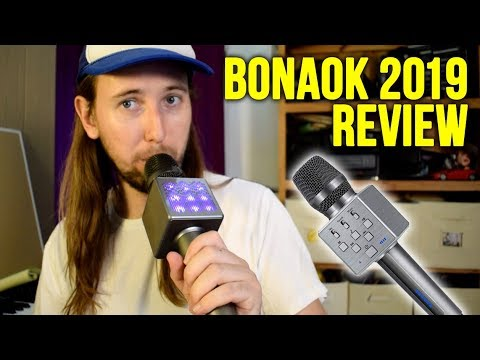 BONAOK 2019 Karaoke Microphone Review!