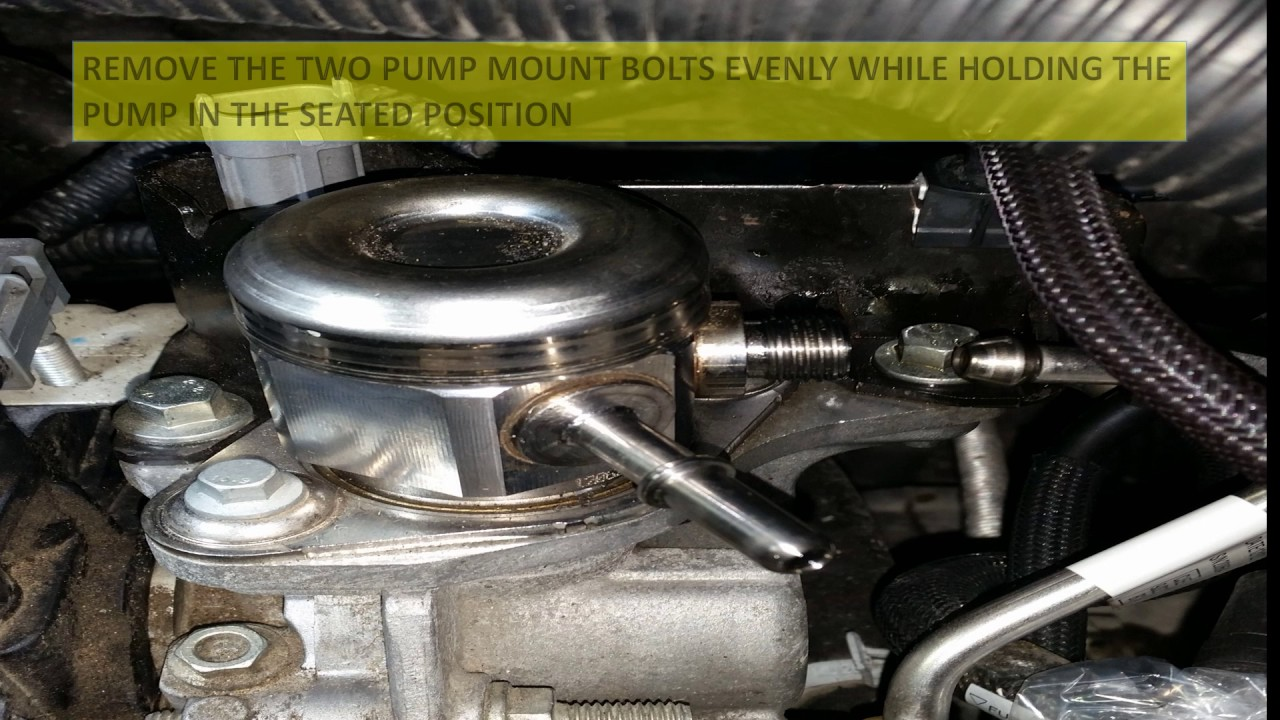 2013 ford focus st high pressure fuel pump change