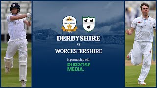 🔴 LIVE | Derbyshire vs Worcestershire - Day Two