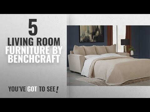 "Top 10 Benchcraft Living Room Furniture [2018]: Benchcraft Wixon 5700339 88"" Pull-Out Fabric Queen"