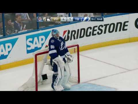Vasilevskiy irate with team, smashes paddle
