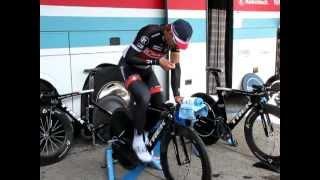Fabian Cancellara Tirreno Adriatico 2012 riscaldamento rulli PRE-CRONOMETRO