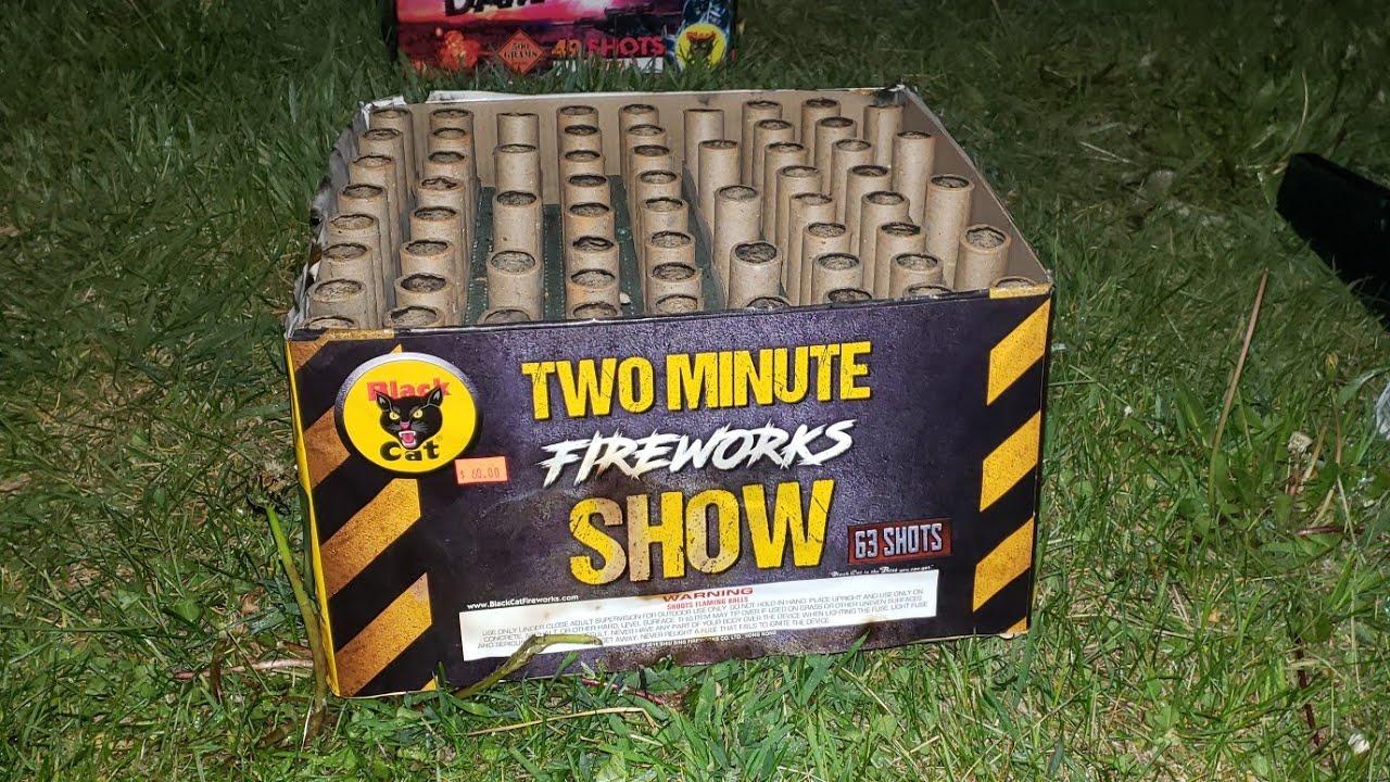 Two Minute Fireworks Show- Black Cat Fireworks