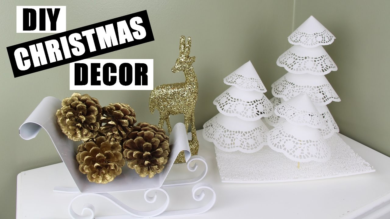 Cute Diy Home Decor Ideas: How To Make Paper Doily Xmas