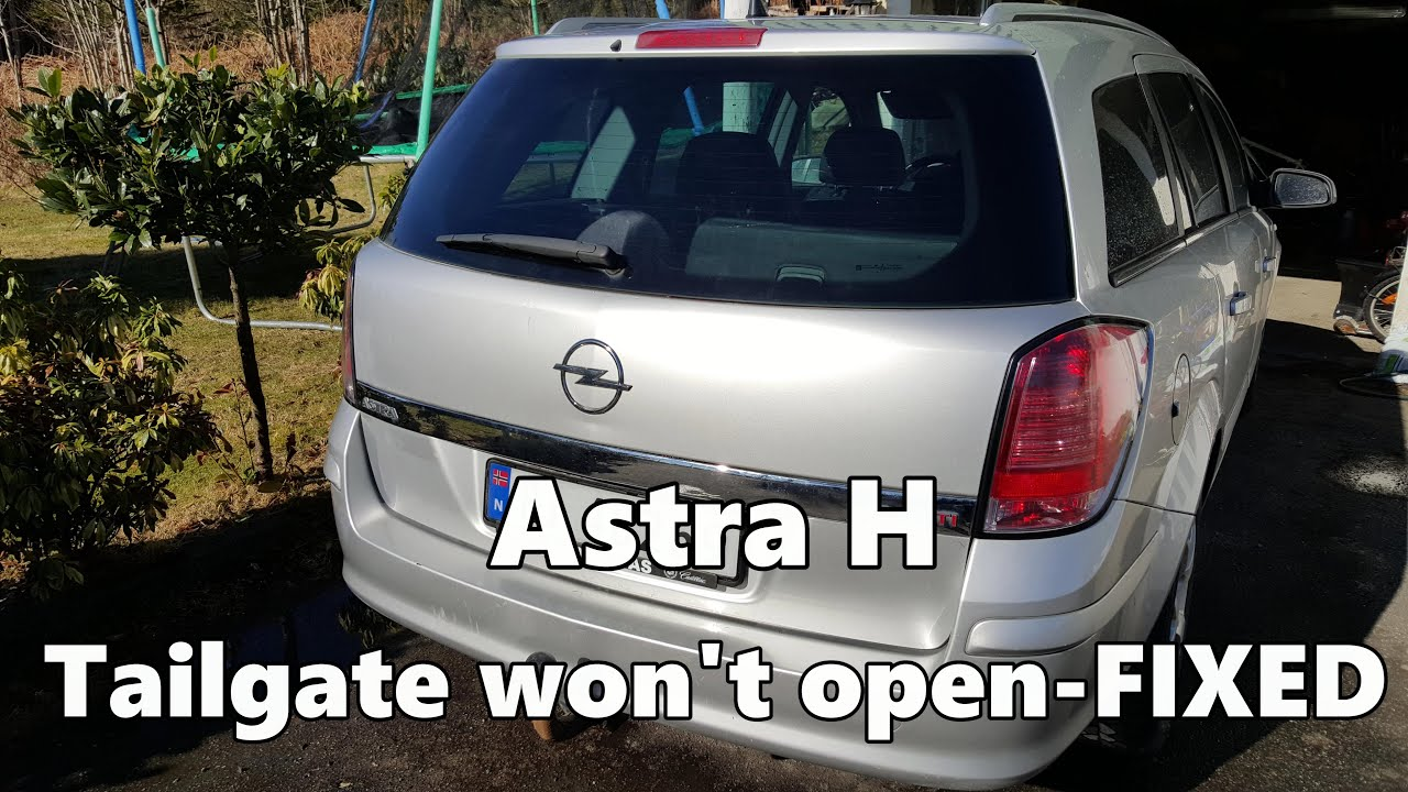 astra h tailgate boot will not open fixed [ 1280 x 720 Pixel ]