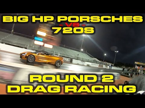 See McLaren 720S Challenge Two Modified Porsches At The Drag Strip