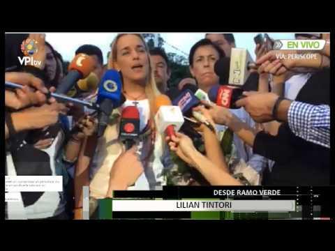 Palabras de Tintori tras 35 días sin ver a Leopoldo López #LoMásVistoVPITV