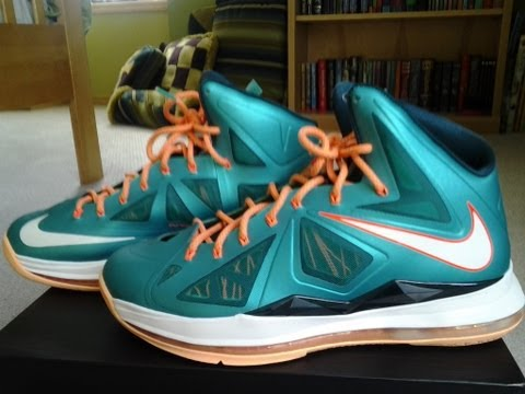 watch 11732 c460c Lebron X 10 Miami Dolphins Setting Review