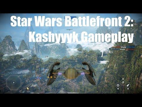 Battlefront 2: Kashyyyk Galactic Assault Gameplay