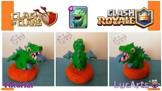 Baby dragon Polymer Clay Tutorial/ Bebé dragon con porcelana fría. Clash of Clans & Clash Royale.