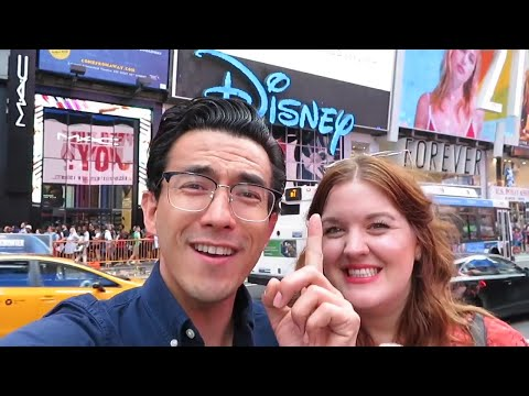We watched Frozen on Broadway! | Disney x NYC | Times Square | September 2018