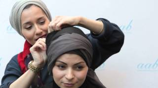 The Turban Style - Live Hijab Tutorial with Dina Tokio  at Aab Flagship Boutique London