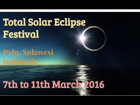 Total Solar Eclipse Festival - Sulawesi, Indonesia. March 2016