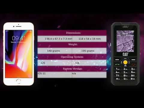 Apple iPhone 8 vs CAT B30 - Phone comparison