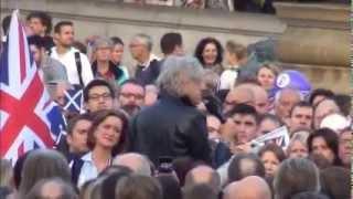 Bob Geldof speaks at Let