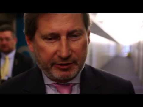 Interview to Johannes Hahn. Open Days Meeting (Brussels)