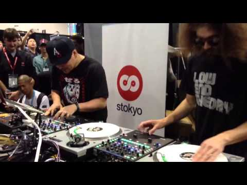 NAMM 2013 - Mixmaster Mike and Gaslamp Killer scratching