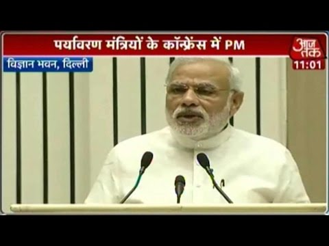 Modi Addresses Ministers Of Environment Forest and Climate Change Part 1