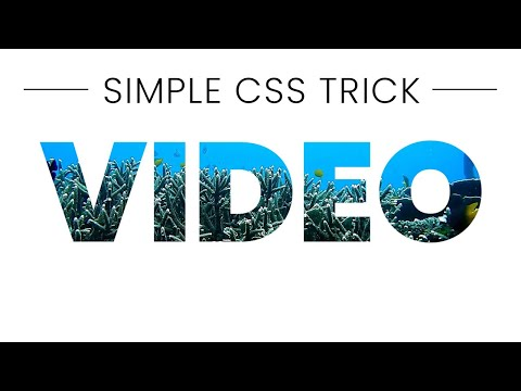 Video inside text | Pure CSS Effect