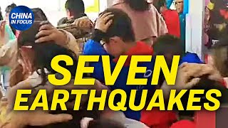 7 earthquakes in 5 days in China county; China food crisis worsens, may disrupt global supply chain
