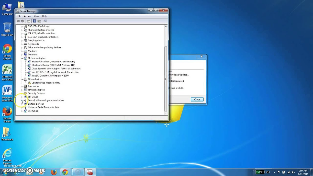 Installing a USB headset in Windows 7