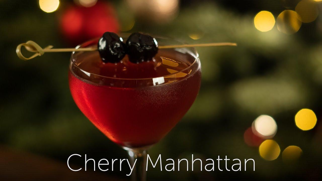 Cherry Manhattan | 12 Days of Cocktails - Day 07