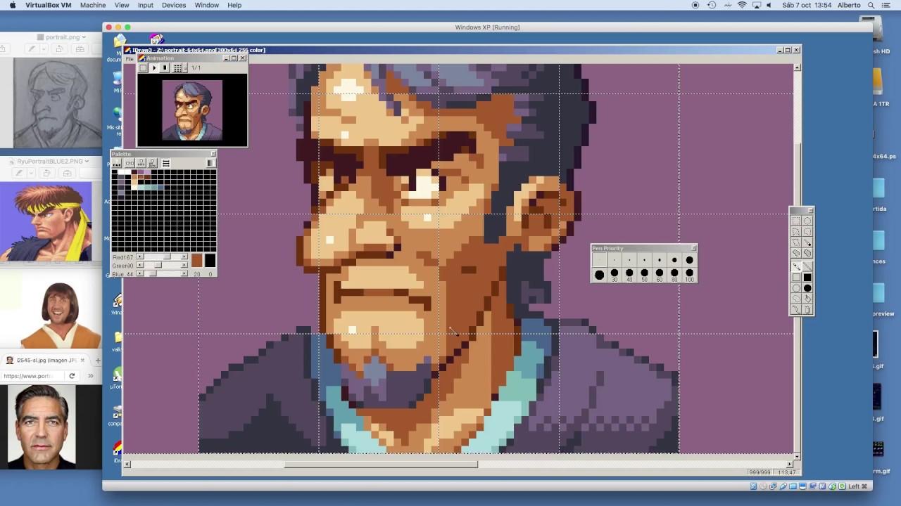 Pixel Art Timelapse Portrait
