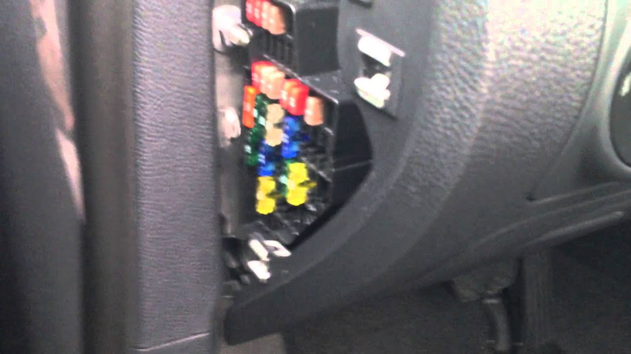 maxresdefault how to access the fuse box in a volkswagen youtube 2000 jetta fuse box location at fashall.co